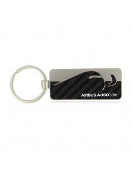 Porta-chaves A350 XWB fibra de carbono