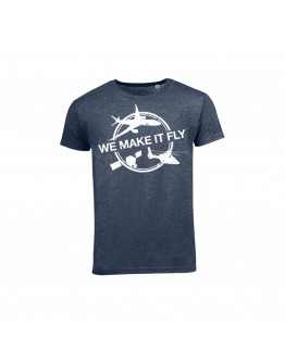 "T shirt -Azul Airbus ""We Make It Fly"""