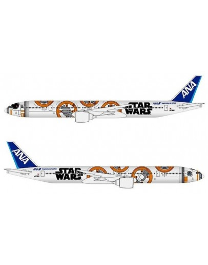 """Boeing 777-300ER All Nippon Airways """" STAR WARS"""" JA789A with display stand"""