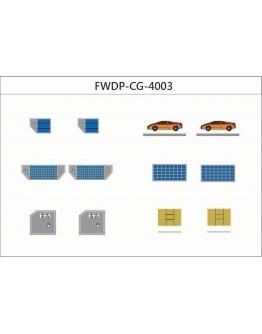 Airport Accessories Cargo add-on Set Diecast, Set of 12