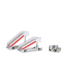 Airport Accessories - Histórico 2x Escadas de Passageiros + 1x Trator