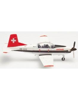 Pilatus PC7 Turbo Trainer Swissair (Schweizerische Luftverkersschule) HB-HOQ (Herpa Wings 580656)