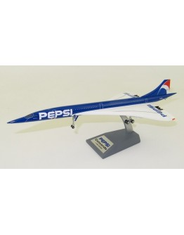 """Concorde 101 Air France """"Pepsi"""" F-BTSD Polished with stand"""