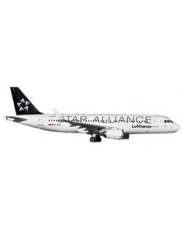 "Airbus A320 Lufthansa ""Star Alliance"" D-AIUA With Stand"