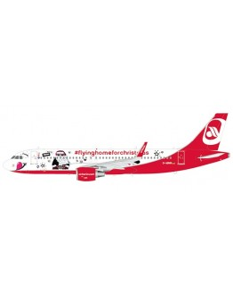 """Airbus A320 Air Berlin """"Fly Home For Christmas Livery"""" D-ABNM With Stand"""