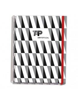 Caderno Espiral Capa Dura C/ Elástico A5