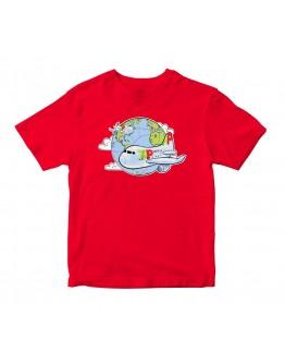 T- Shirt Criança À Volta do Mundo