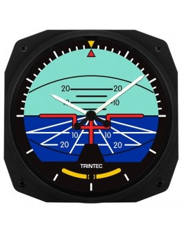 Artificial Horizon Instrument Style Clock