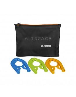 AIRBUS - Conjunto de cabides dobráveis AIR SPACE