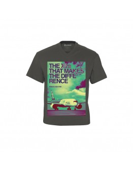 "AIRBUS - T-shirt  A350 XWB com decote em V "" The Xtra that makes the difference"""